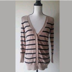 a.n.a. striped cardigan sweater size xs